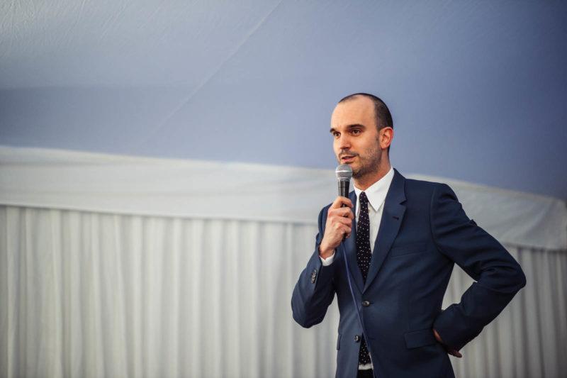 Kenneth Ramaekers op de presentatie van Haute-a-Porter (kvds)
